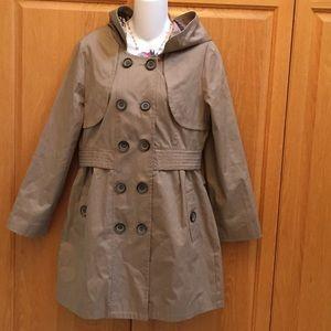 2/$20 Beige Tan Trench Rain Coat Jacket Large L